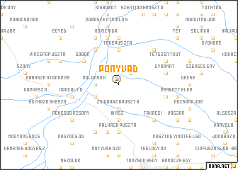 map of Ponyvád