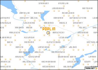 map of Poplin