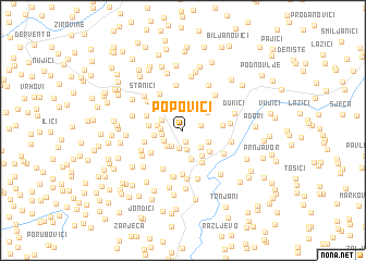 map of Popovići