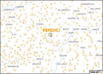 map of Popovići