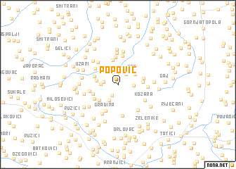 map of Popović