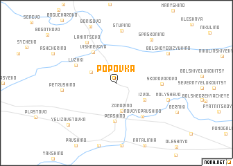map of Popovka