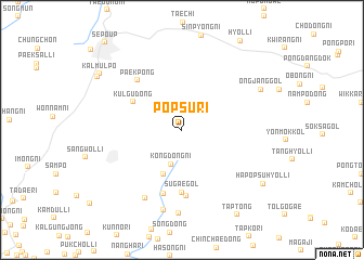 map of Pŏpsu-ri