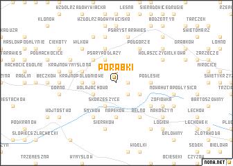 map of Porąbki