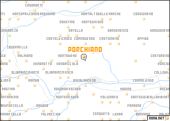 map of Porchiano