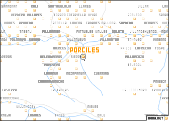 map of Porciles