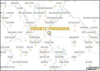 map of Poręby Cyranowskie