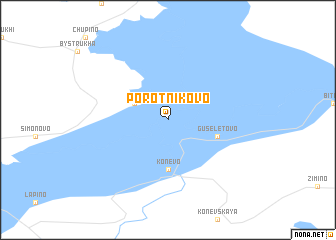 map of Porotnikovo