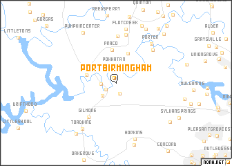map of Port Birmingham
