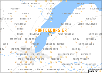 map of Port-de-Corsier