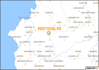 map of Portegolpe