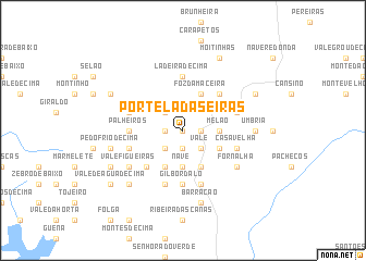 map of Portela das Eiras
