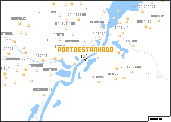 map of Pôrto Estanhado