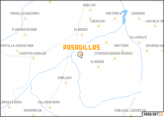 map of Posadillas