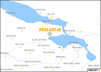 map of Posedarje