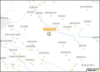 map of Pōshīn