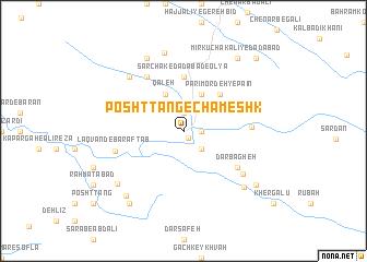 map of Posht Tang-e Chameshk