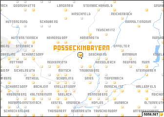 map of Posseck im Bayern