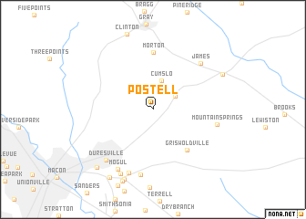 map of Postell