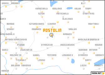 map of Postolin
