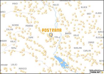 map of Postrana