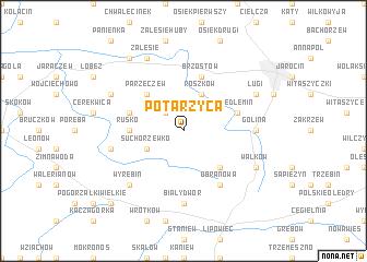 map of Potarzyca