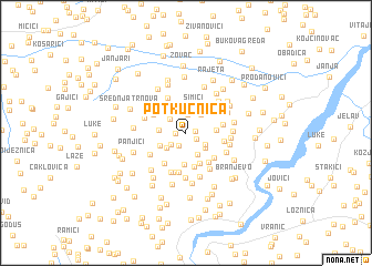 map of Potkućnica