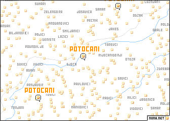 map of Potočani