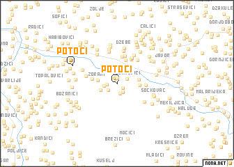 map of Potoci