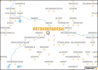 map of Potok Senderski