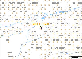 map of Pottenau