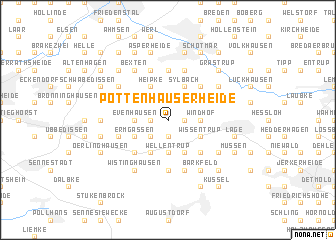 map of Pottenhauserheide