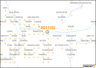 map of Pötting