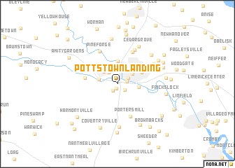 map of Pottstown Landing