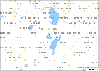 map of Potzlow