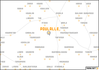 map of Poulallé