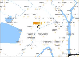 map of Po-u-sein