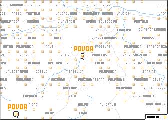 map of Póvoa