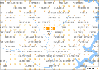 map of Póvoa
