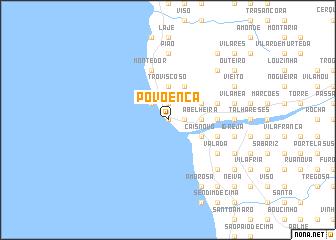 map of Povoença