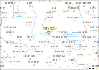 map of Poyozu