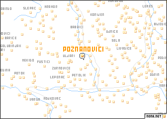 map of Poznanovići