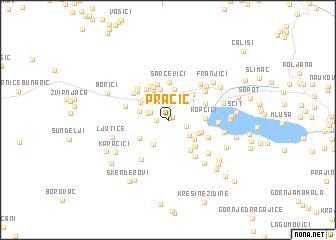 map of Pračić