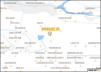 map of Prądocin