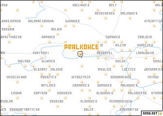 map of Prałkowce