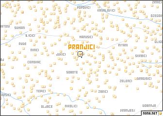 map of Pranjići