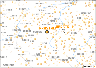 map of Praštali
