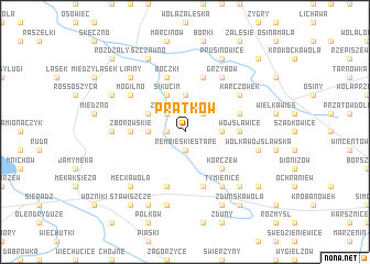 map of Pratków