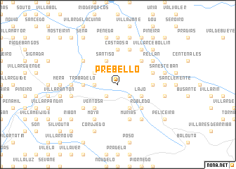 map of Prebello