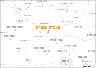 map of Prechistoye